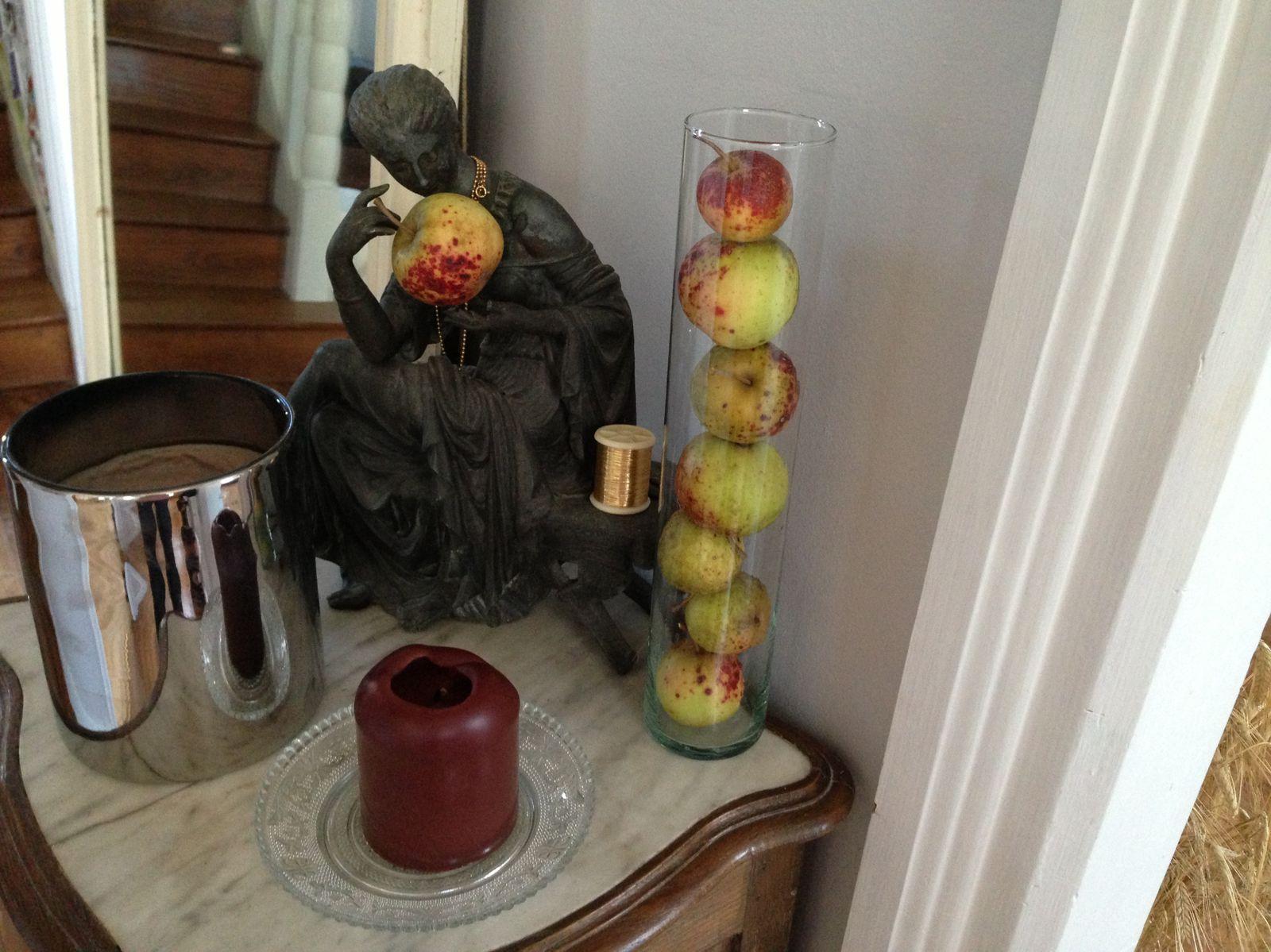 La belle dame et les pommes
