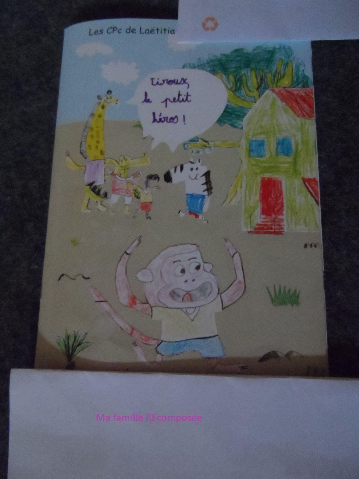 Livre écrit par la classe de CP ! Et couverture dessinée par leurs petites mains !