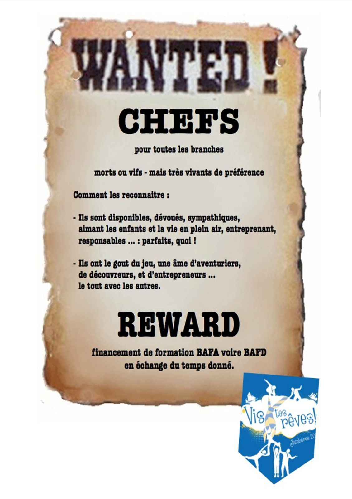 Wanted Chef scout !!!