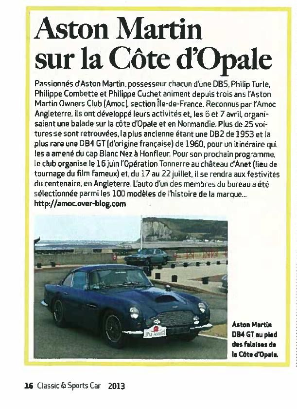 L'AMOC Ile de France dans Classic & Sports Cars