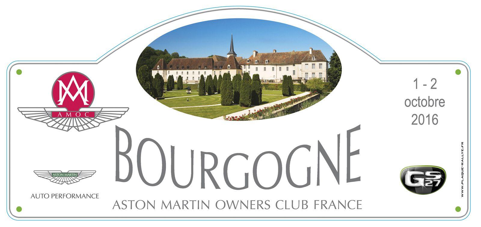 Liste des engagés : Rallye La Bourgogne - 1 et 2 octobre 2016