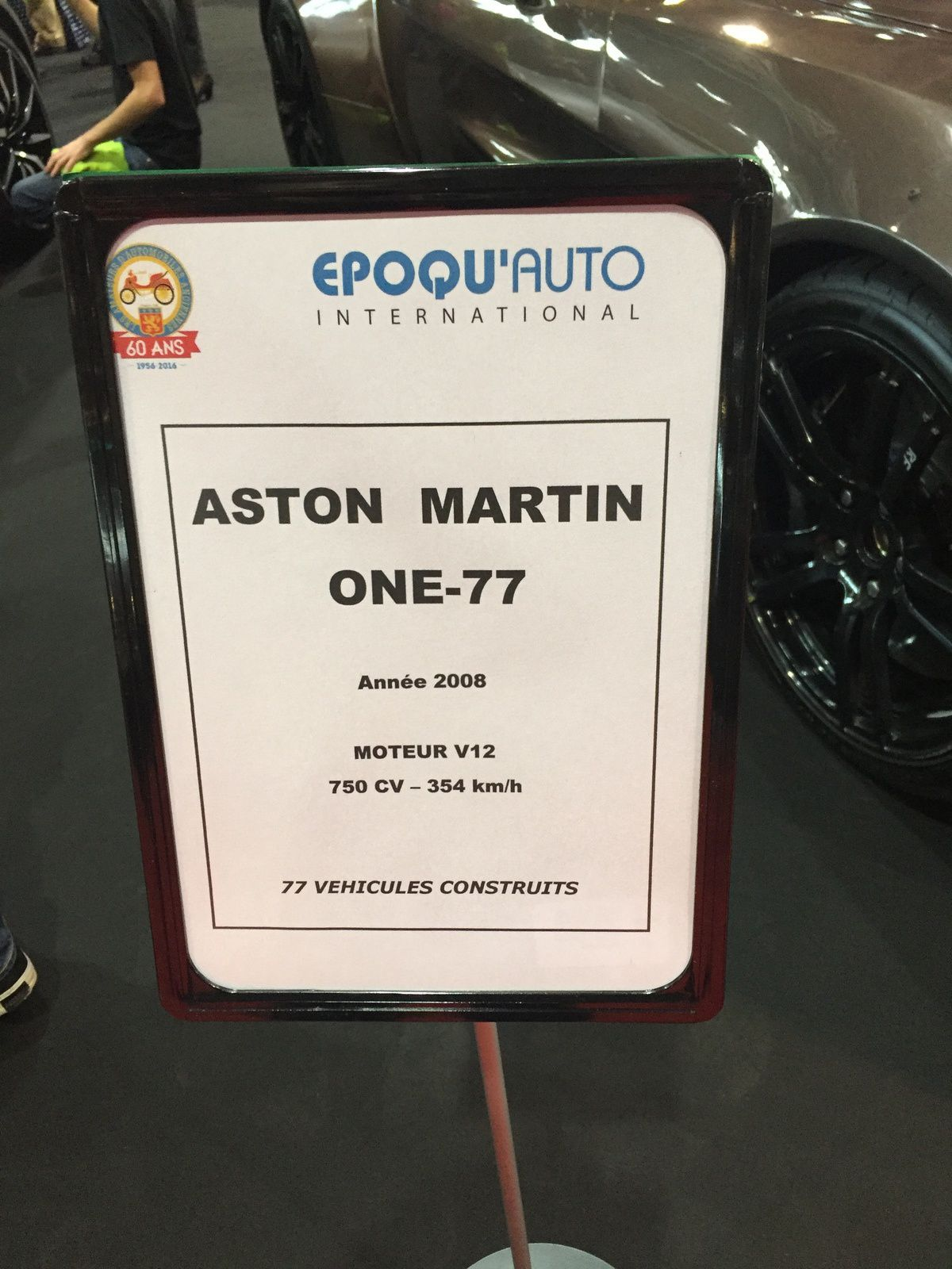 Salon EPOQ'AUTO 2016 - Exposition Aston Martin