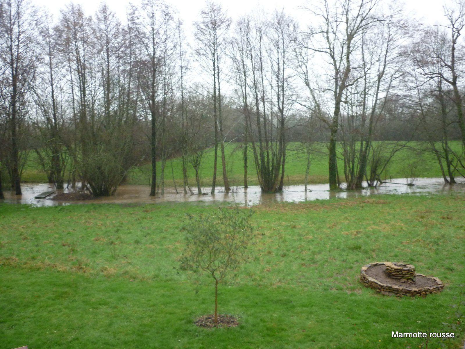 Photo prise au printemps après quelques jours de pluies abondantes