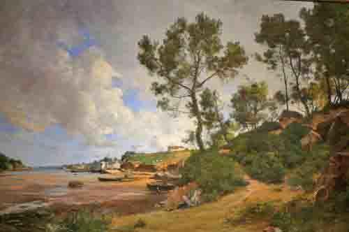 Emmanuel Lansyer, Estuaire en Bretagne. Le ciel et les arbres sont magnifiques!