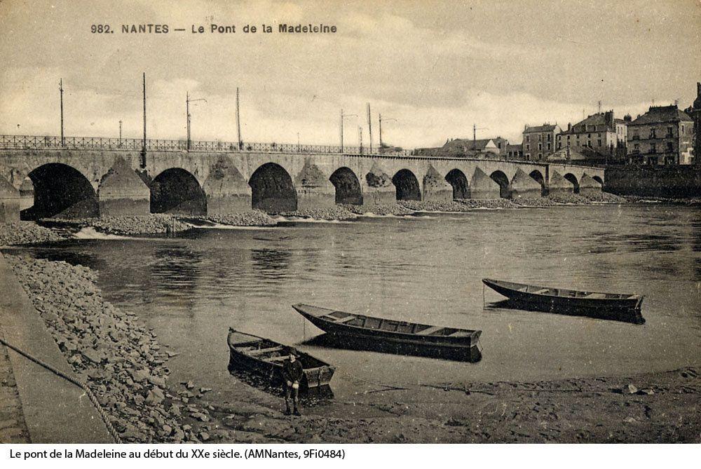 Le pont de la Madeleine au début du XXème siècle