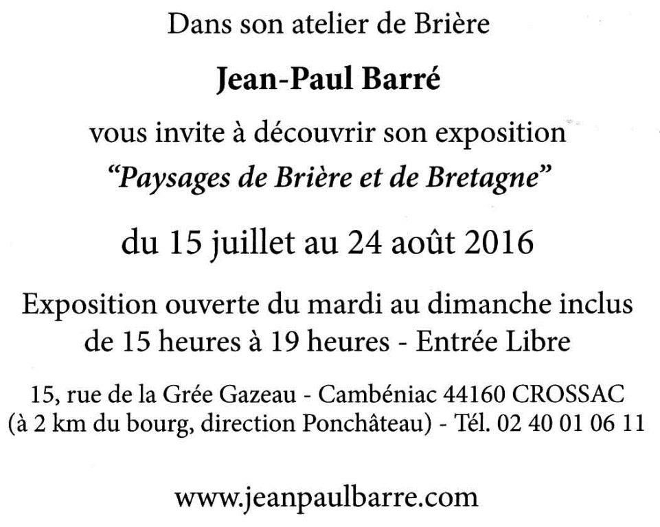 Jean-Paul Barré expose à Crossac