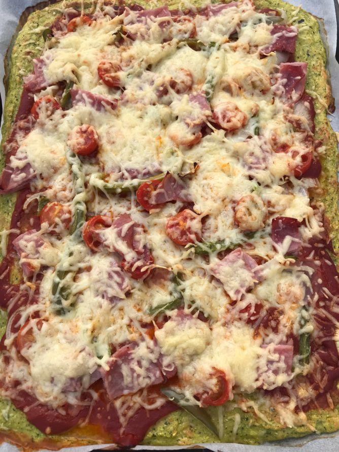 Pizza pâte à la courgette #diet #light #léger Thermomix