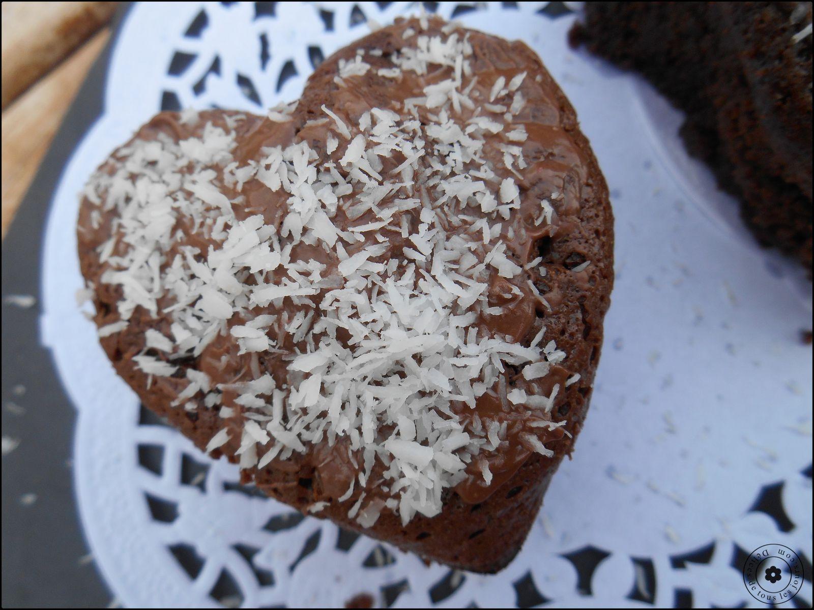 Fondants au Chocolat et Noix de coco
