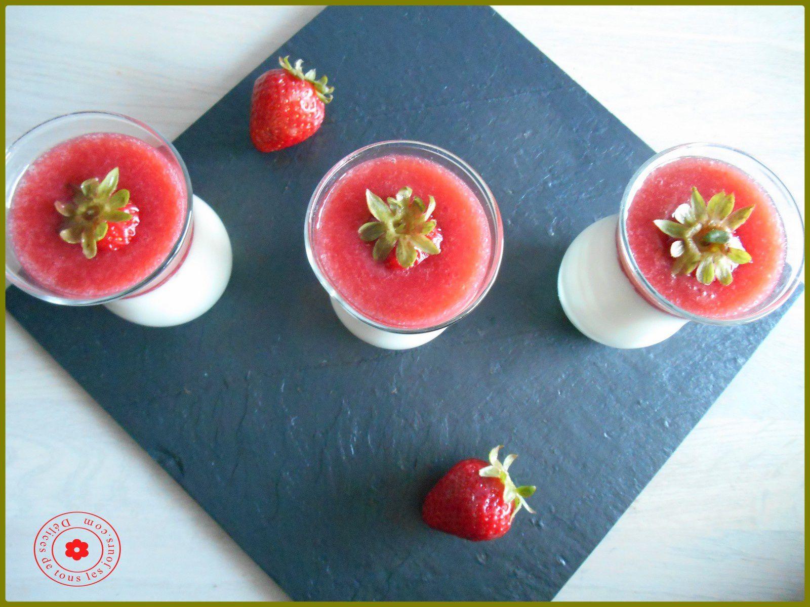 Panna Cotta à la fraise