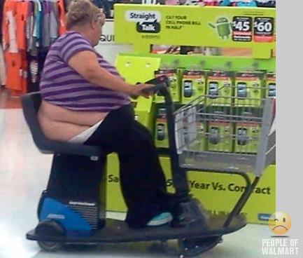 En course à Walmart