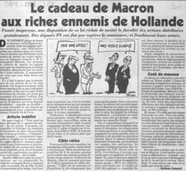 Loi Macron : un cadeau aux riches (en passant)
