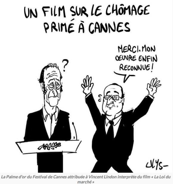 Hollande primé à Cannes