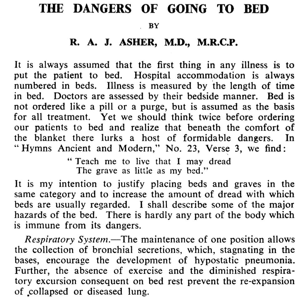 Aller au lit est dangereux