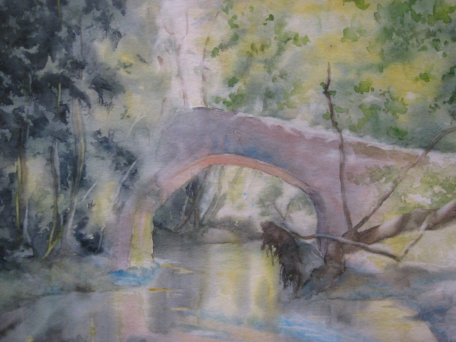 Les ponts dans la verdure ...