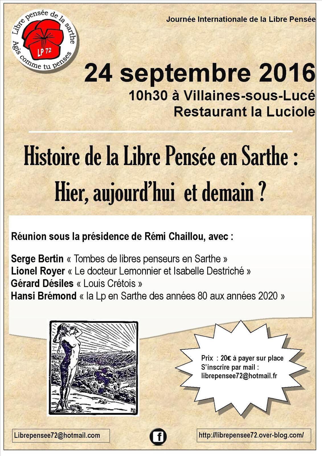 Histoire de la Libre Pensée en Sarthe