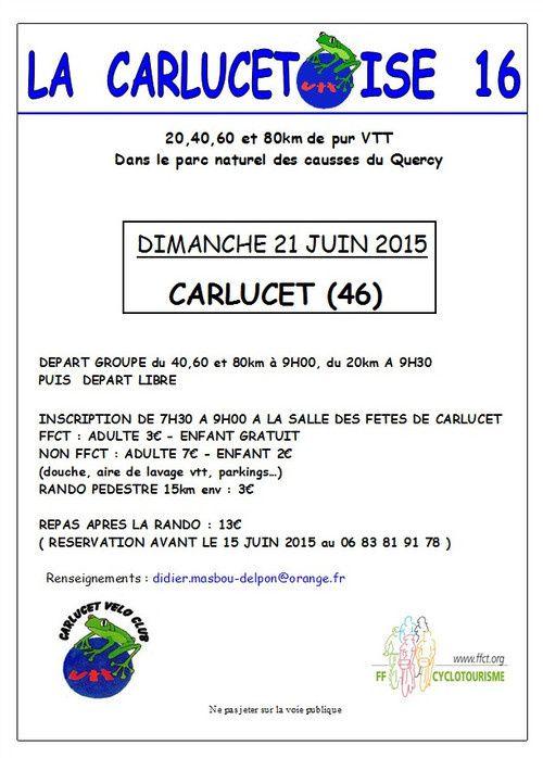 La Carlucetoise le 21 juin 2015