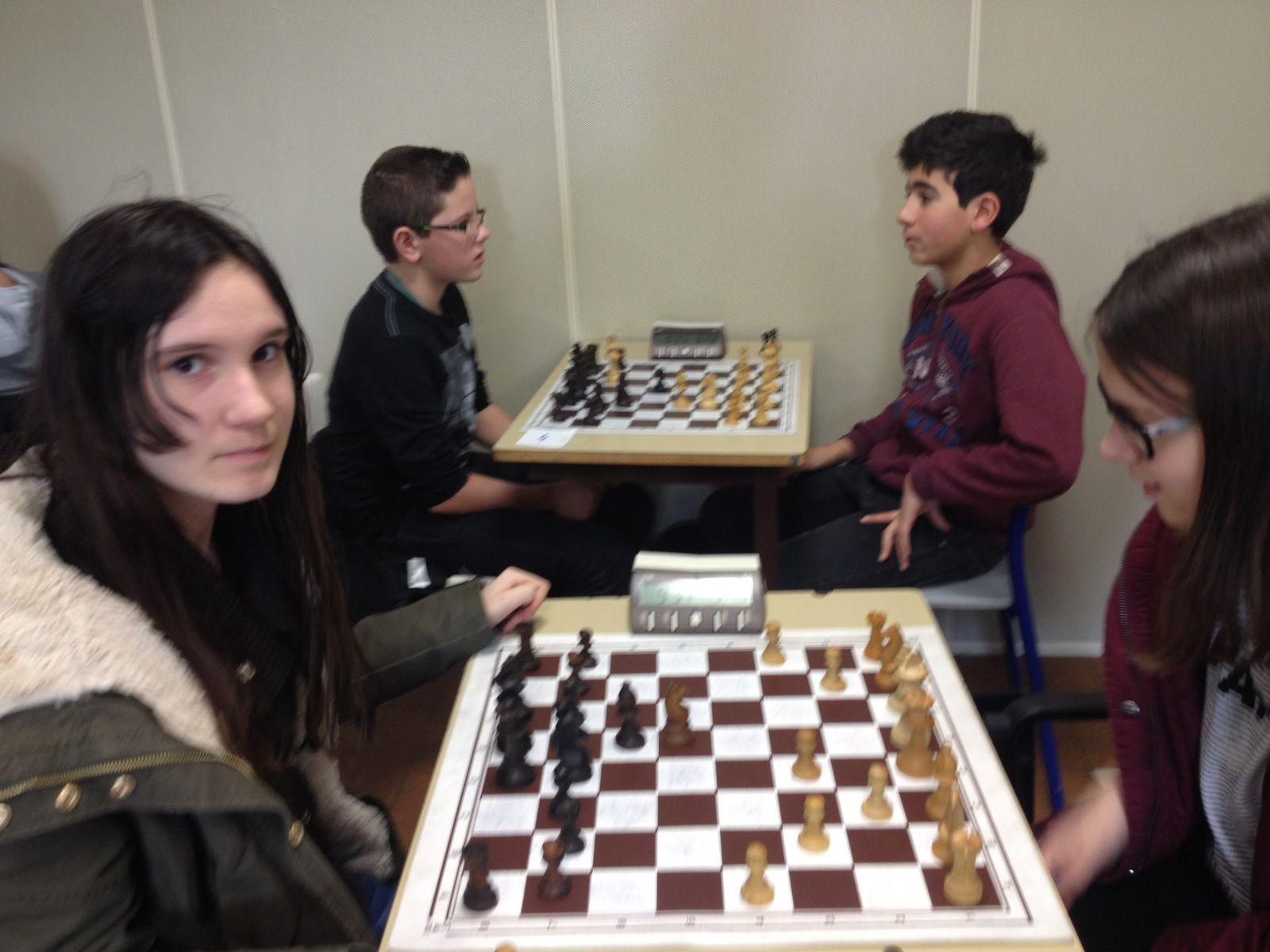 Championnat départemental scolaire d'échecs, retour en photos