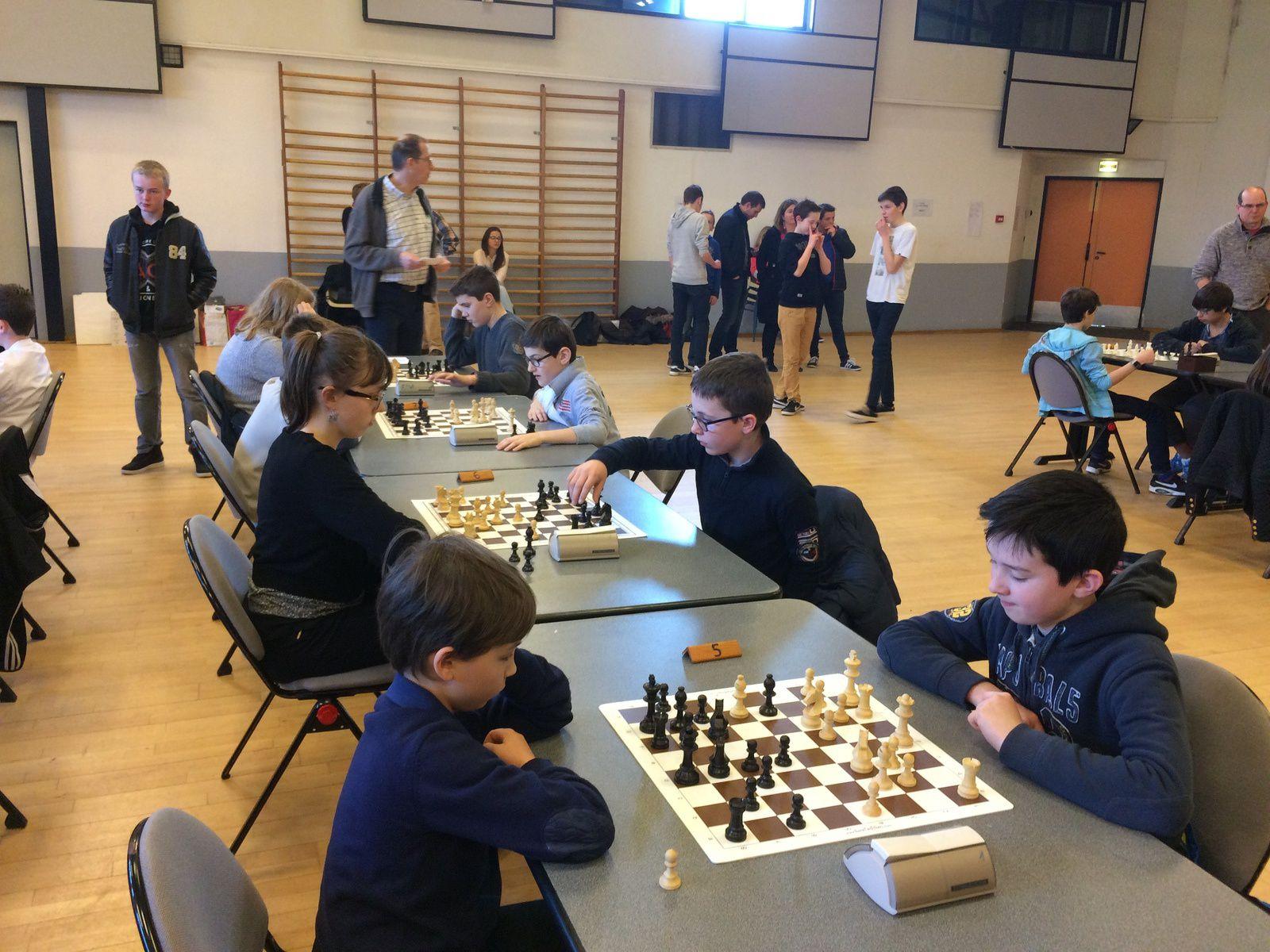 Le collège Saint-Charles aux championnats d'académie d'échecs