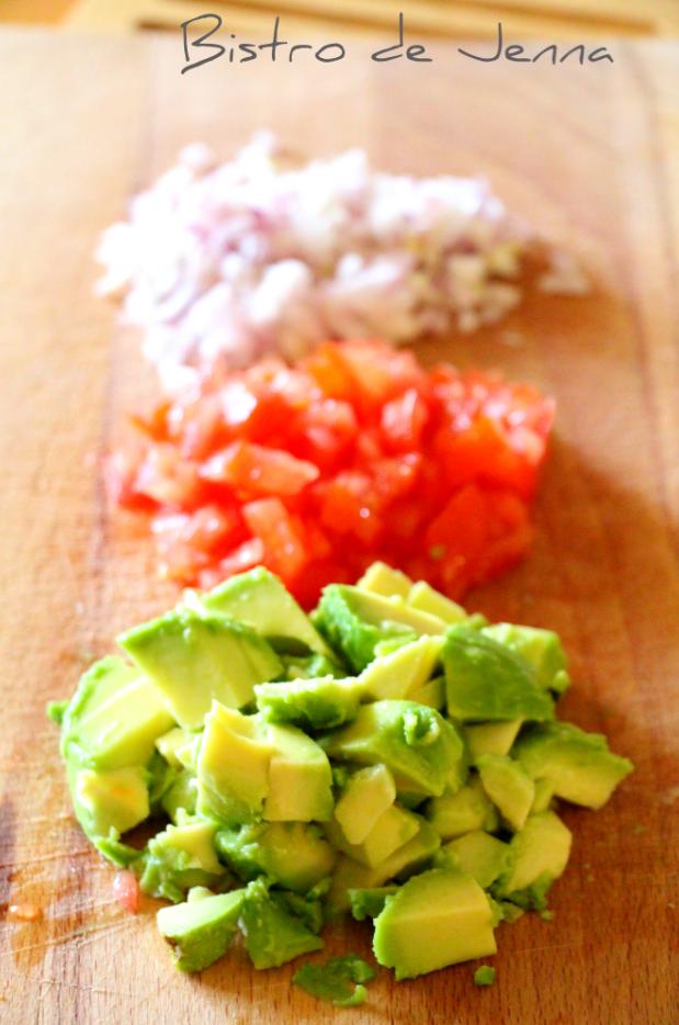 Les légumes couper en petits dés
