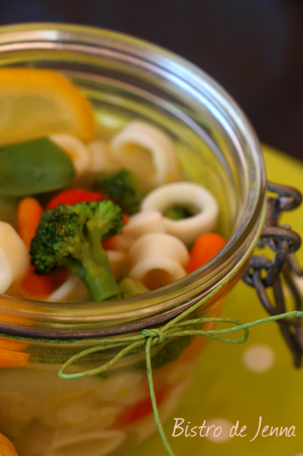 Pot au feu calamars, mini légumes &  Food in a Jar, la cuisine en bocal #Battle Food9#