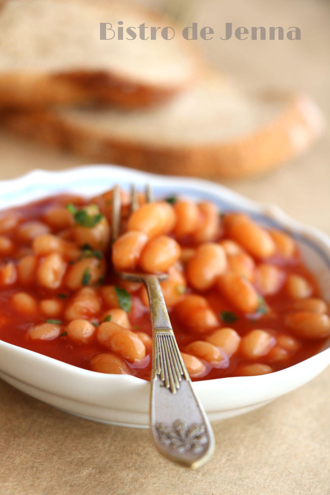 Haricots blanc à la sauce tomate sucrée