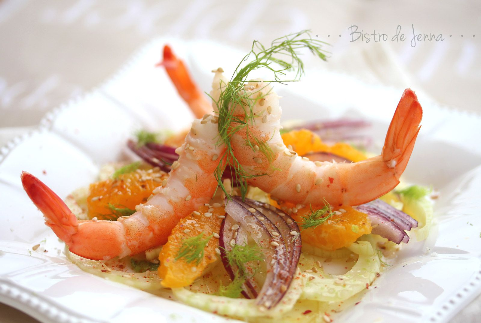 salade de crevettes fenouil et orange bistro de jenna. Black Bedroom Furniture Sets. Home Design Ideas