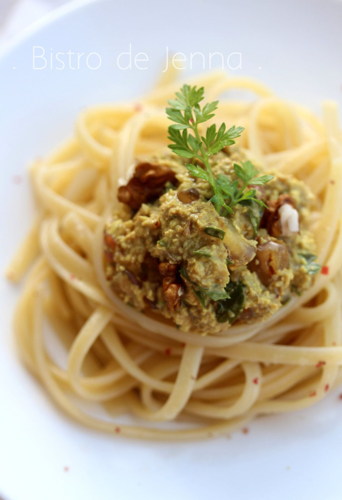 Spaghetti aux noix