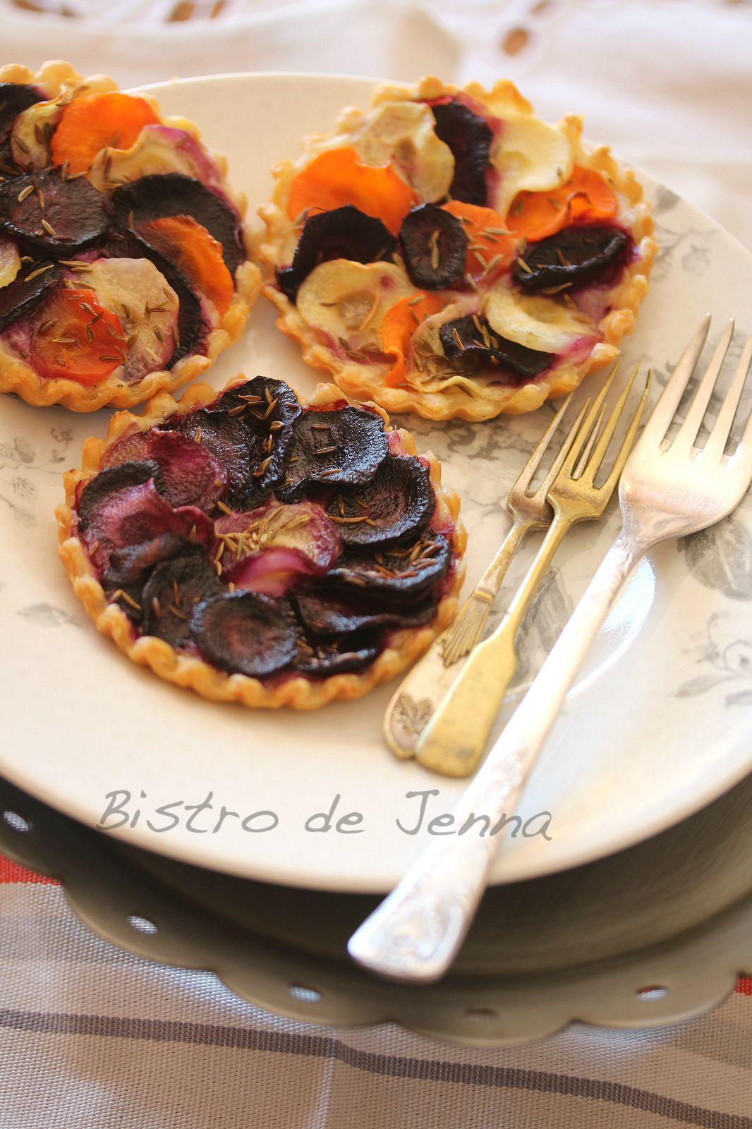 Tartelettes au trois carottes, béchamel léger et cumin  {Ma recette végétable}