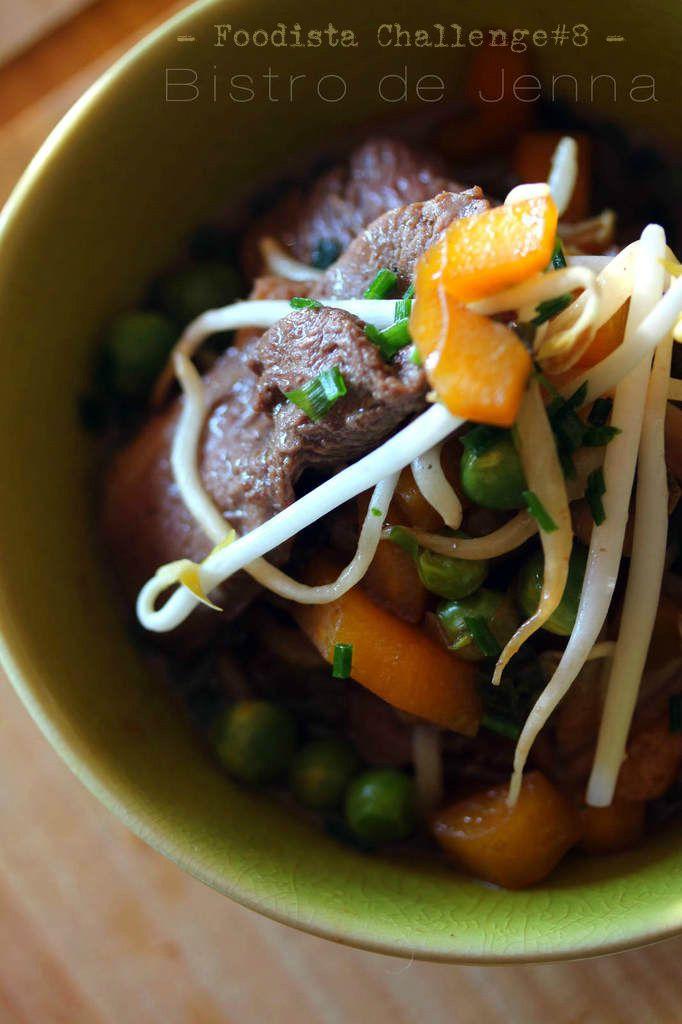 Wok de canard et ses légumes craquantes