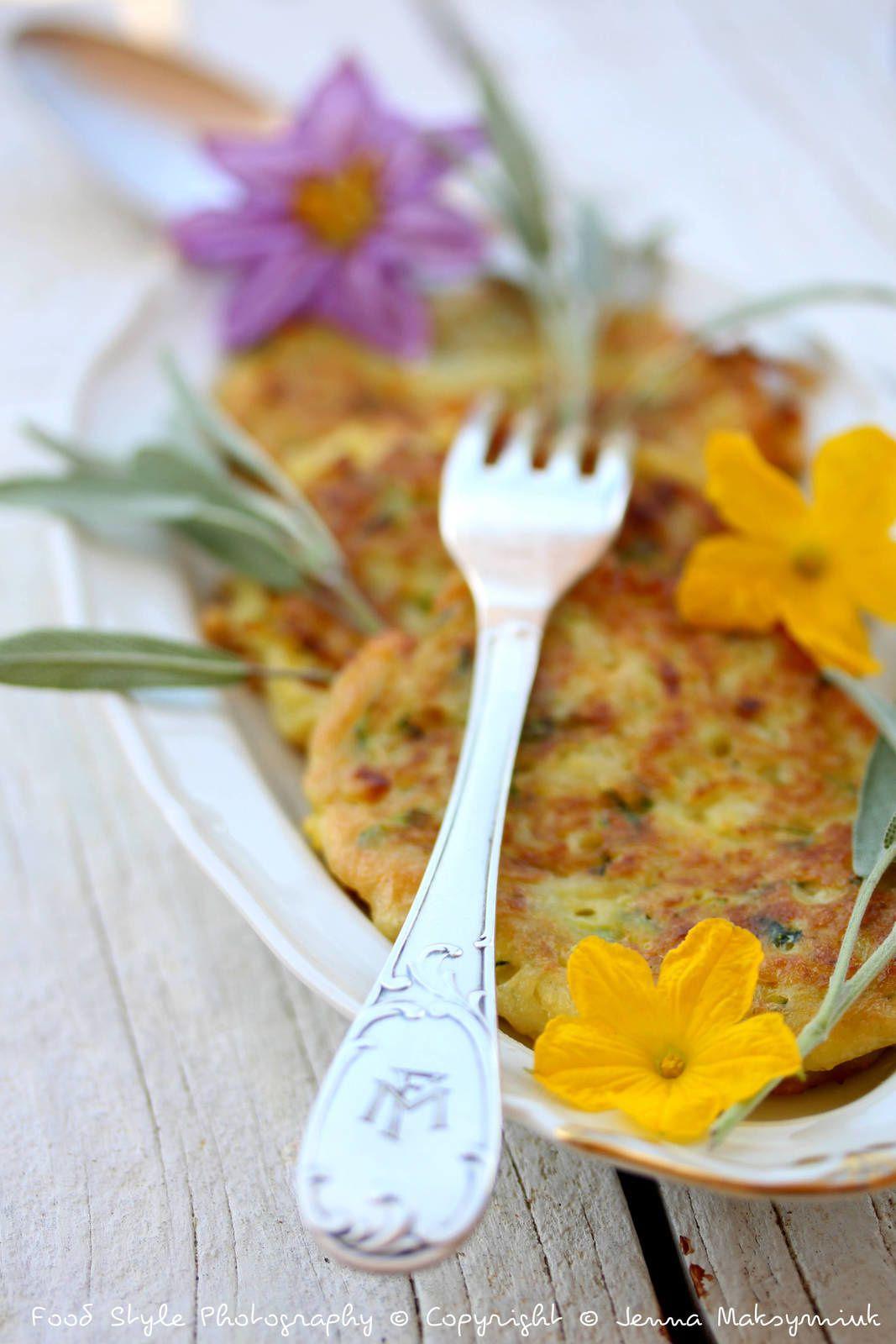 Galettes de courgette, pommes de terres et sauge fraiche (sans gluten)