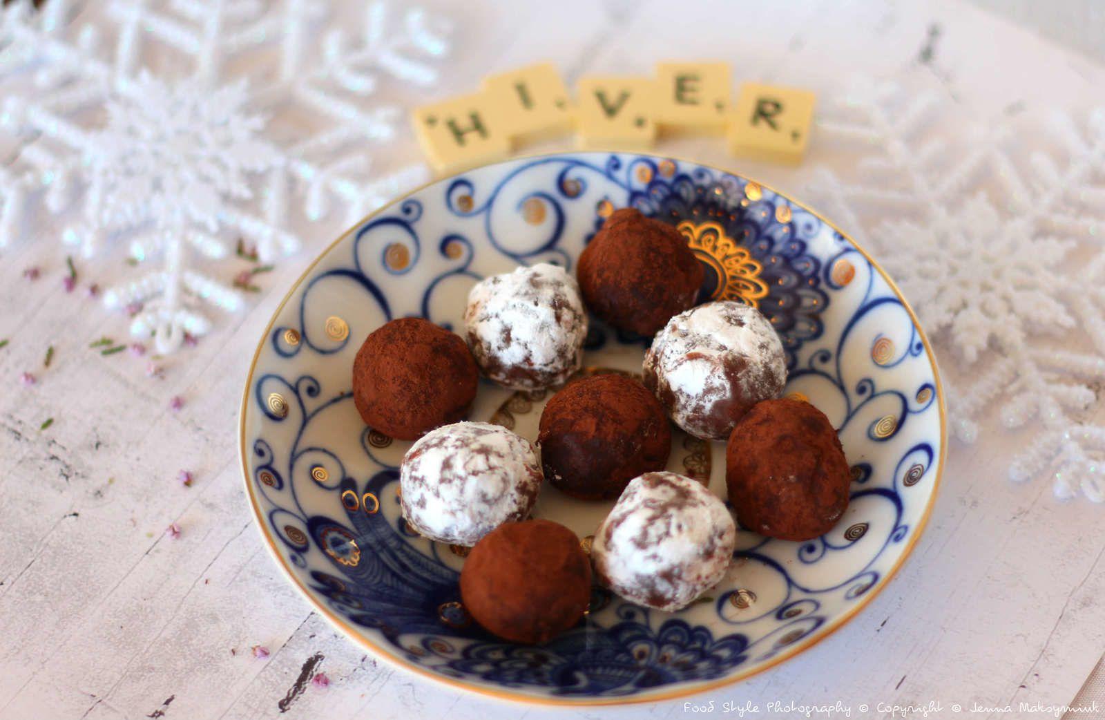 Truffes au chocolat et marrons