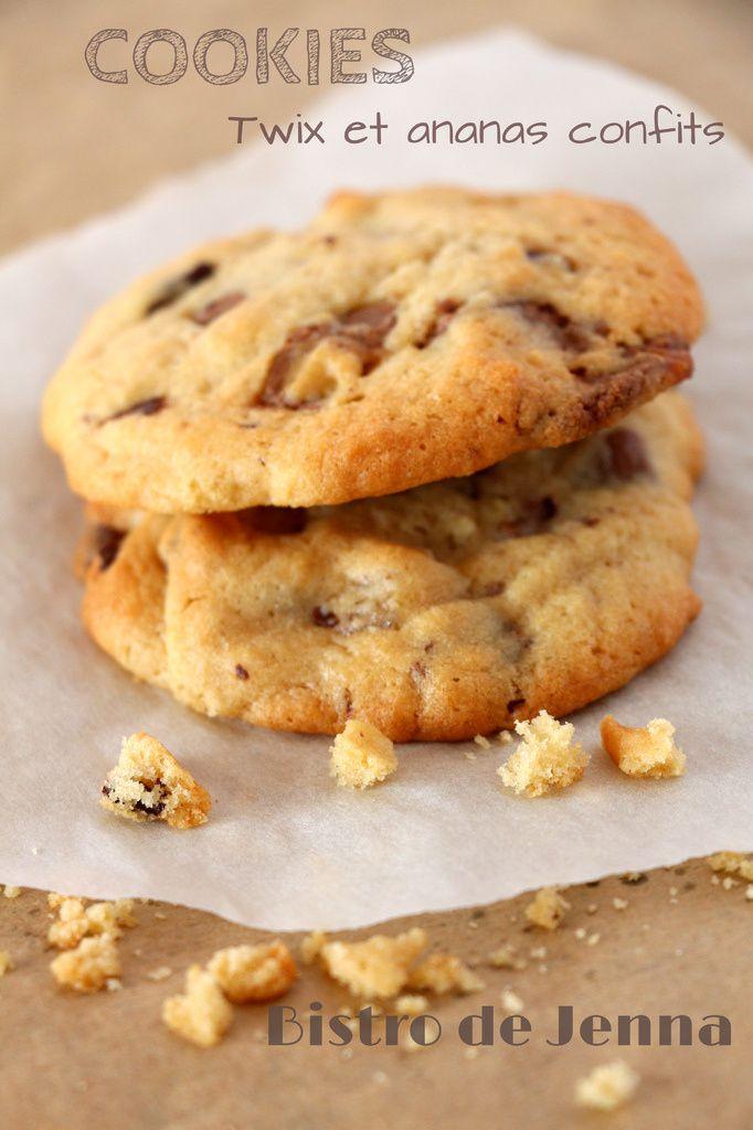 Cookies aux twix et à l'ananas confit