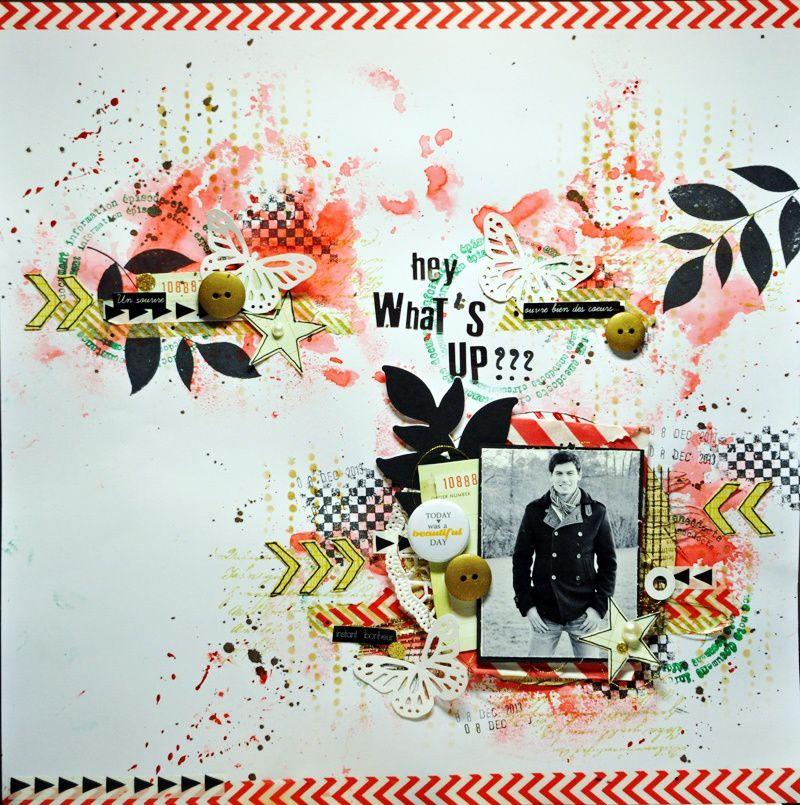 Hey, what's up ?? challenge Pinterest chez Cap de Scrapper ça !!