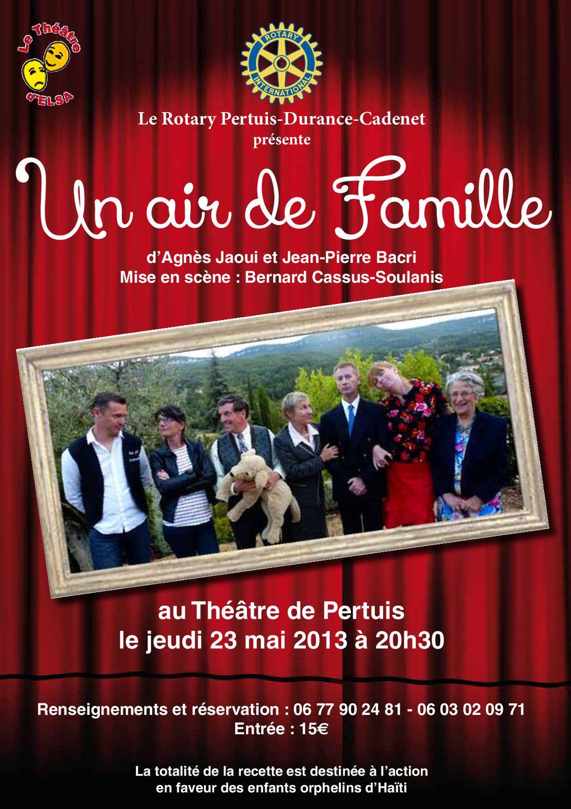 L'affiche pour la représentation de Pertuis le 23 mai