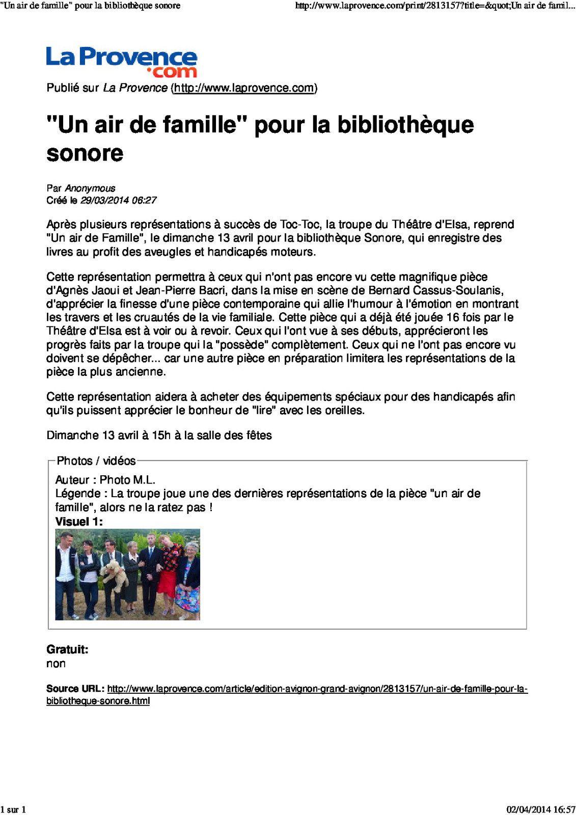 Revue de Presse 2013/2014