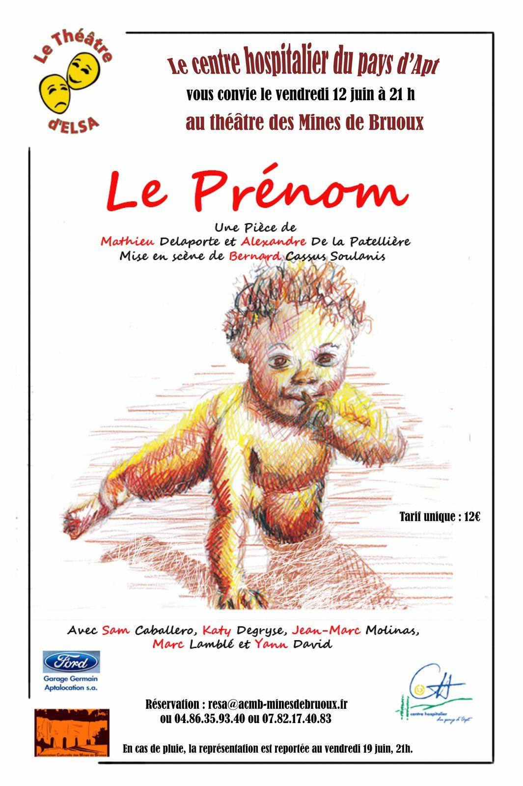 Le Prénom reporté au 19 juin 2015