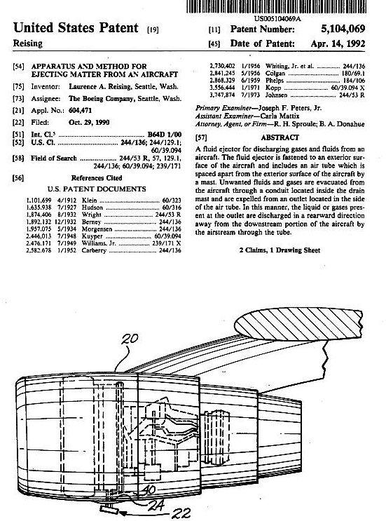 Le brevet US pour la dispersion de particules dans l'atmosphère