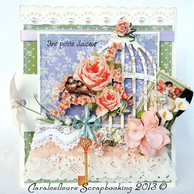 DT Art du Scrapbooking - Défi de la semaine du 3 mai ...Carte pour la Fête des mères avec la collection Secret Garden de Graphic 45...