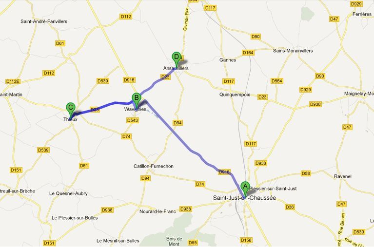 Sixième jour de marche entre Saint-Just-en-Chaussée et Ansauvillers (60)