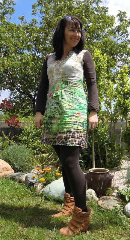Version manches longues et leggings pour la fraîcheur matinale du mois de Mai