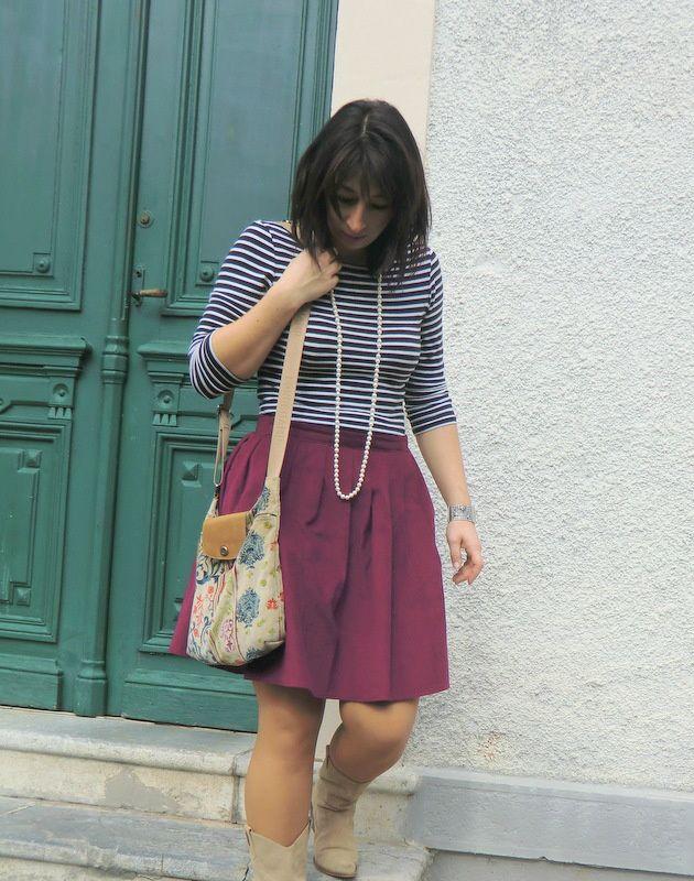 Jupe plissée #3 Framboisier Le blog de Tamara