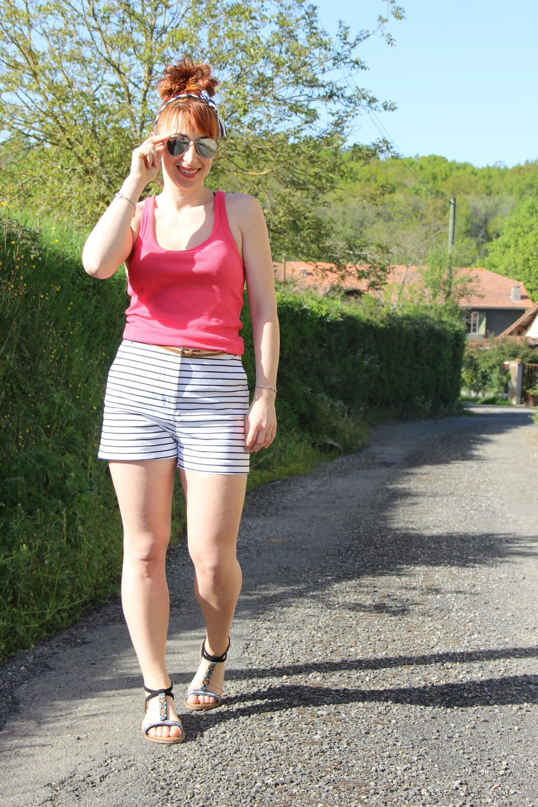 top corail et short marin