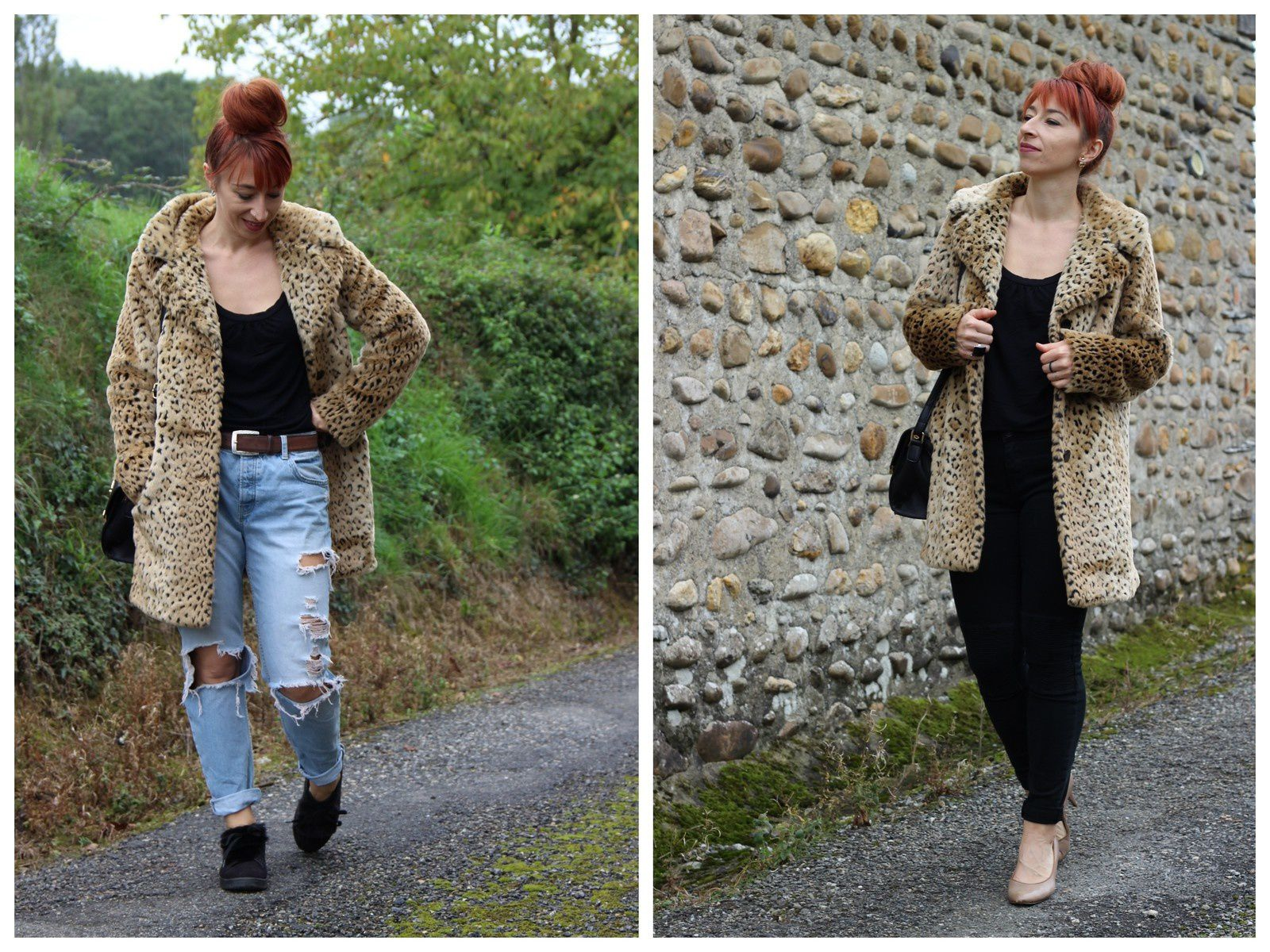 Manteau de fourrure léopard : 2 looks !