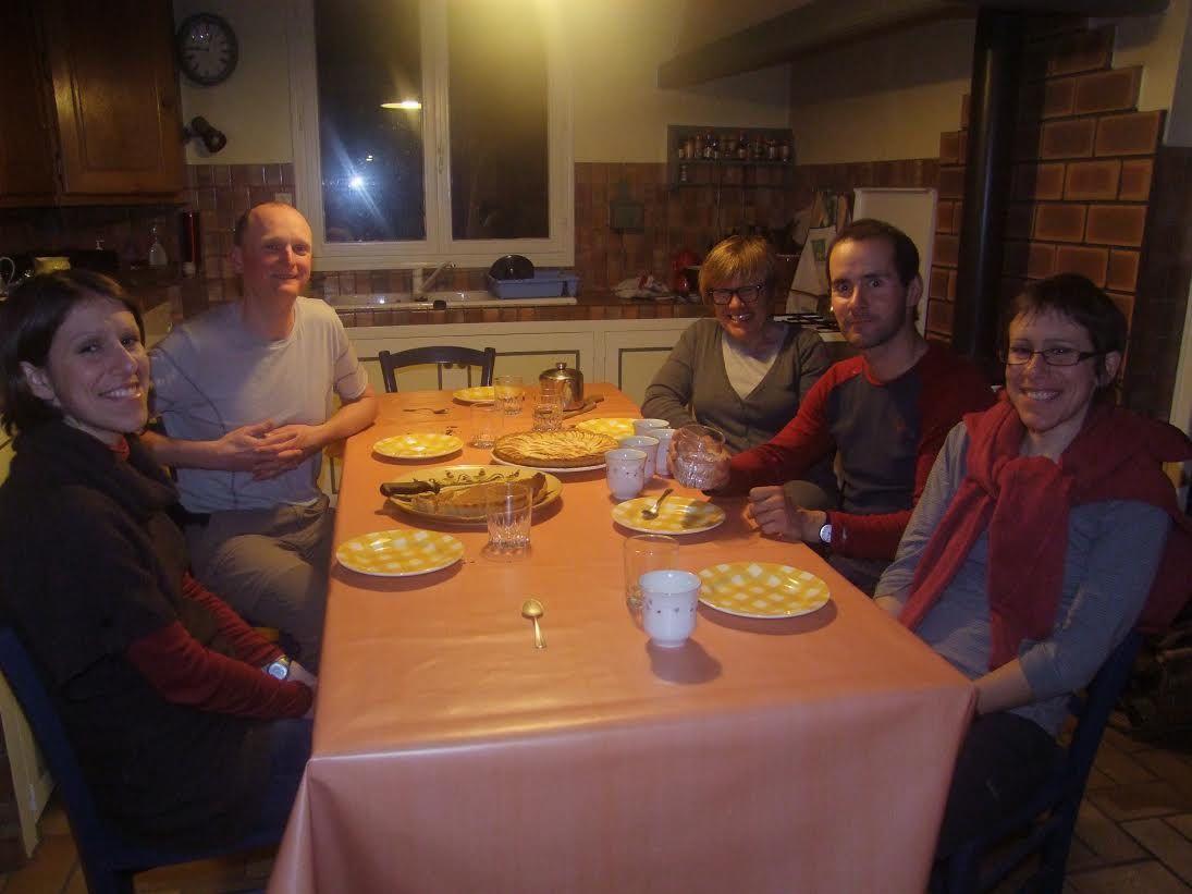 Repas à Chabeuil en compagnie de David Wotin avant hier.