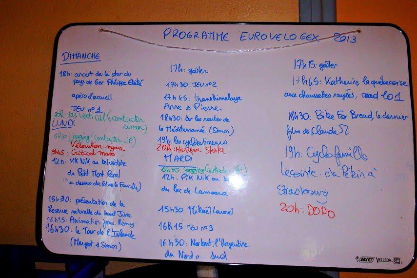 Programme 2013 et années précédentes