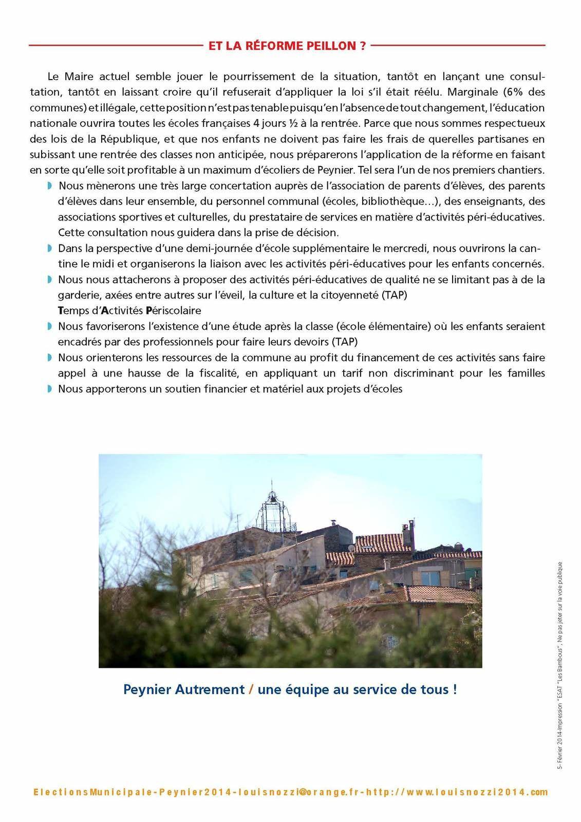 Réforme Peillon : le maire prend en otage les enfants de Peynier