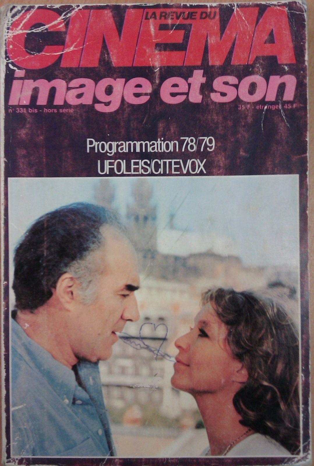 Programmation des sorties cinéma année 1978-1979
