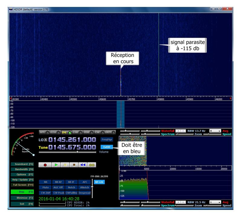 Réception avec HDSDR - RADIO AMATEUR F6CNK et MATERIEL MILITAIRE
