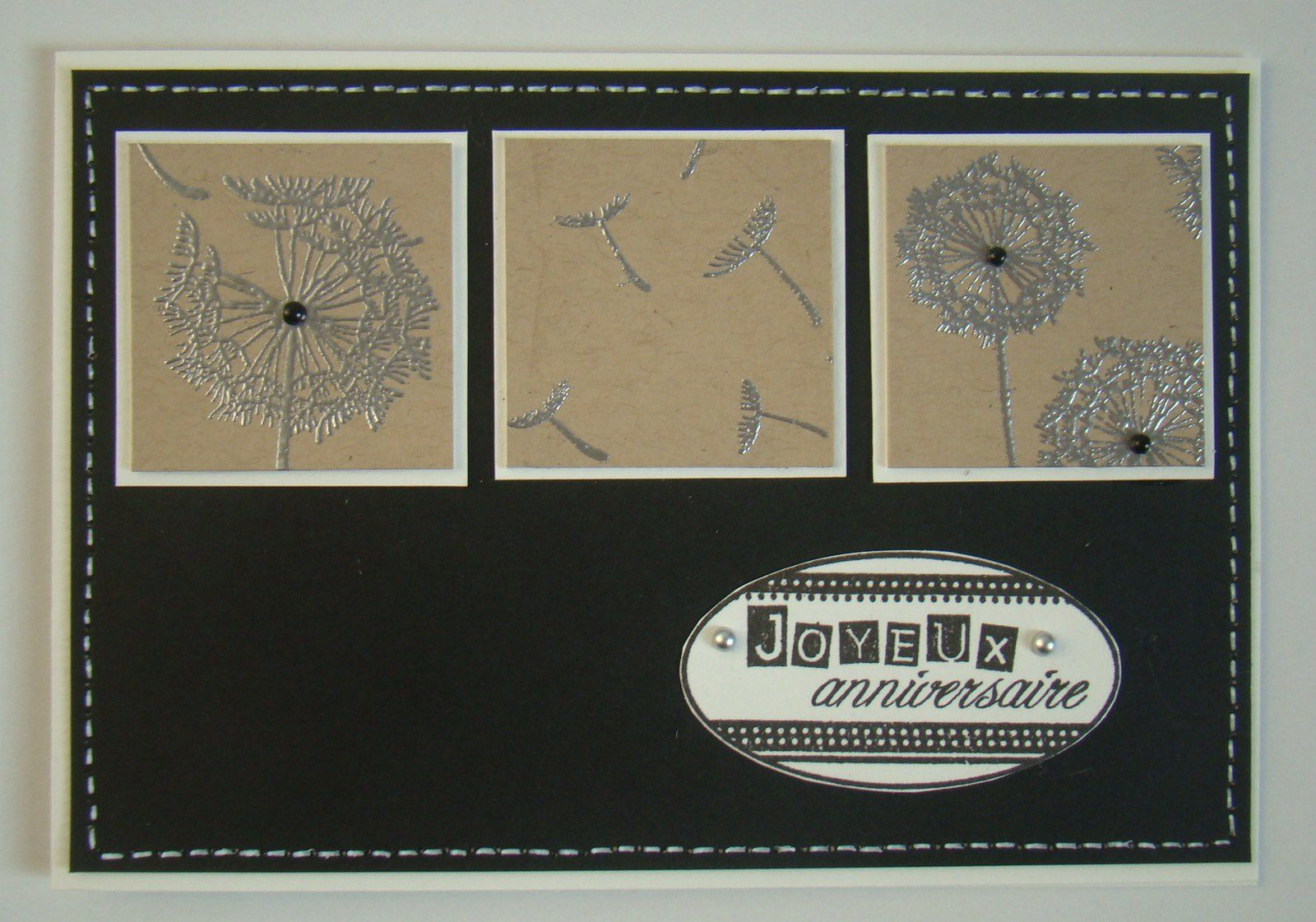 3 cartes pour le challenge Florilèges Design / Ligue contre le cancer