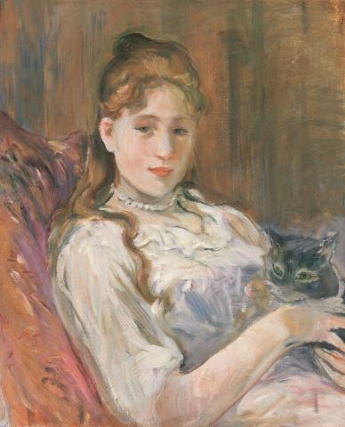 Jeune fille au chat 1892